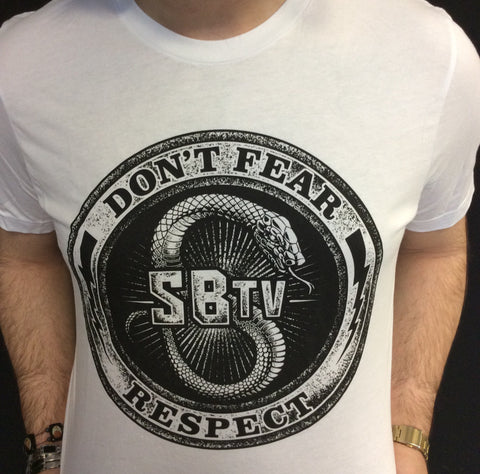 SBTV-Don't Fear Respect White T-Shirt - BHB Reptiles