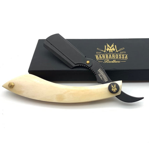 Barbarossa The Cutlass Straight Razor Buffalo Bone
