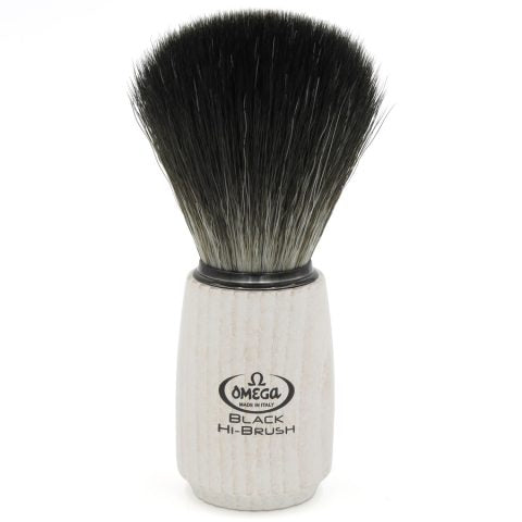 OMEGA BLACK HI-BRUSH FIBER SHAVING BRUSH 0196711 - Ozbarber