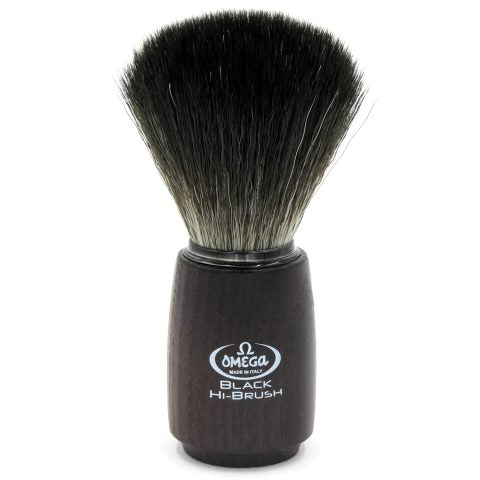 OMEGA BLACK HI-BRUSH FIBER SHAVING BRUSH 0196712 - Ozbarber