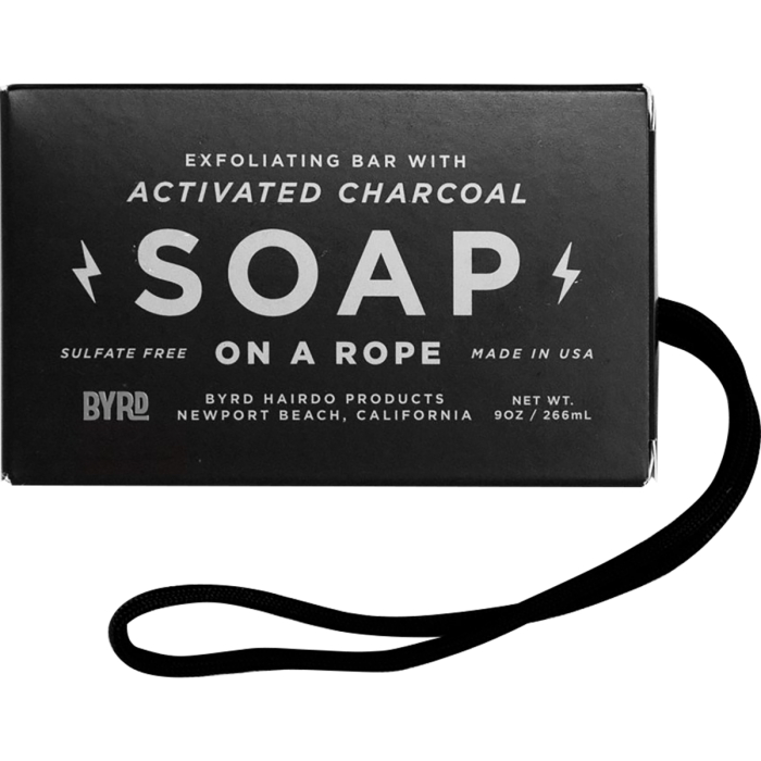 Byrd Soap on a Rope - Activated Charcoal