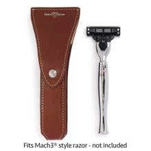 Load image into Gallery viewer, Edwin Jagger Brown Leather Razor Case - Ozbarber