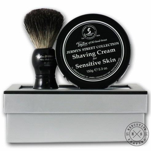 TAYLOR OF OLD BOND STREET JERMYN ST SHAVING CREAM & SHAVING BRUSH SET - ozbarber