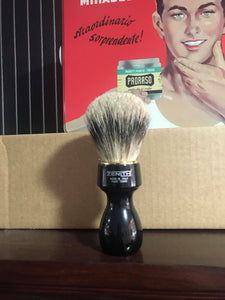 Zenith Best Badger shaving brush black handle - Ozbarber