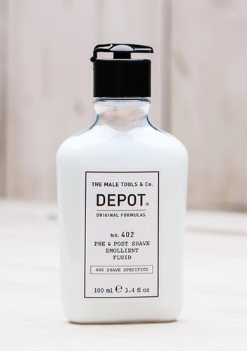 DEPOT NO 402 PRE & POST SHAVE EMOLLIENT FLUID 100ML - Ozbarber
