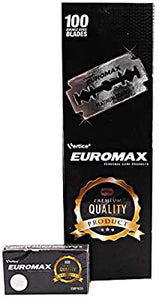 Euromax Platinum Coated Double Edge Razor Blades (100)