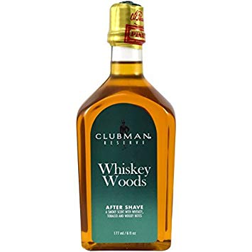 CLUBMAN WHISKEY WOODS AFTER SHAVE LOTION, 6 OZ - Ozbarber