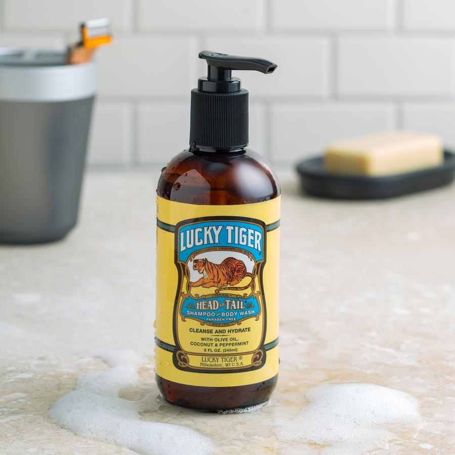 LUCKY TIGER HEAD TO TAIL SHAMPOO & BODY WASH - Ozbarber