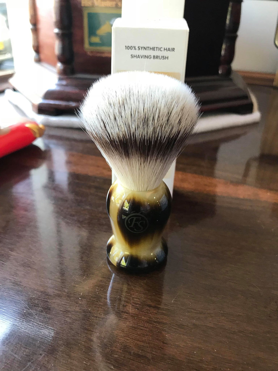 FRANK SHAVING SYNTHETIC FAUX HORN SHAVING BRUSH SYS20-FH10 - Ozbarber