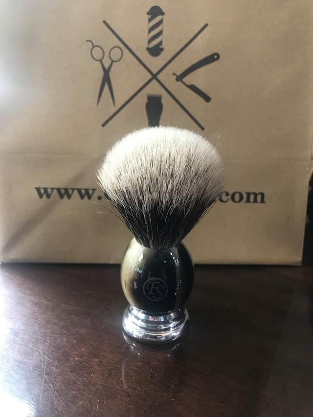 Frank Shaving Finest Badger Shaving Brush Faux Horn Handle - Ozbarber