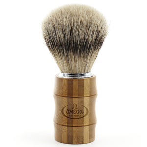 OMEGA SUPER BADGER SHAVING BRUSH – BAMBOO - Ozbarber