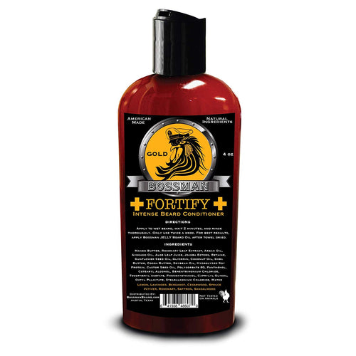 BOSSMAN BRANDS FORTIFY INTENSE GOLD BEARD CONDITIONER – 118ML - Ozbarber