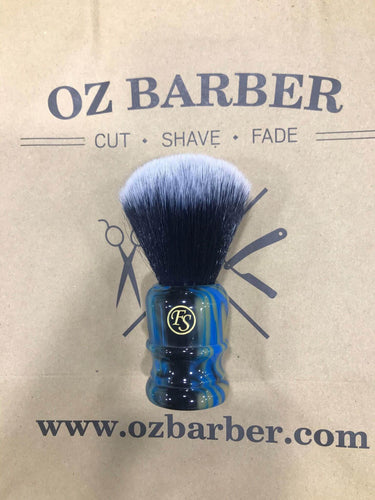 FRANK SHAVING FAUX LAPIS LAZULI HANDLE SYNTHETIC SHAVING BRUSH - Ozbarber