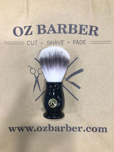 FRANK SHAVING FAUX EBONY HANDLE SYNTHETIC SHAVING BRUSH - Ozbarber