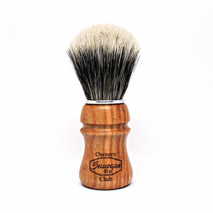 SEMOGUE OWNERS CLUB FINEST BADGER SHAVING BRUSH CHERRY WOOD - Ozbarber