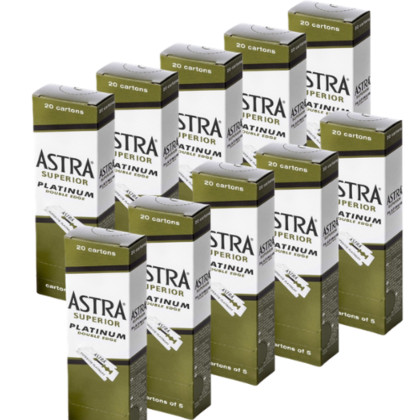 Astra Superior Platinum Double Edge Blades (1000 pcs)
