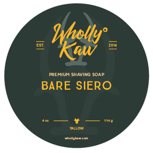 Wholly Kaw Bare Siero Shaving Soap Tallow