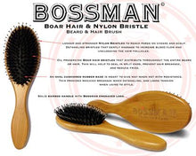 Load image into Gallery viewer, BOSSMAN BEARD BRUSH WITH BOAR HAIR & NYLON BRISTLES - Ozbarber