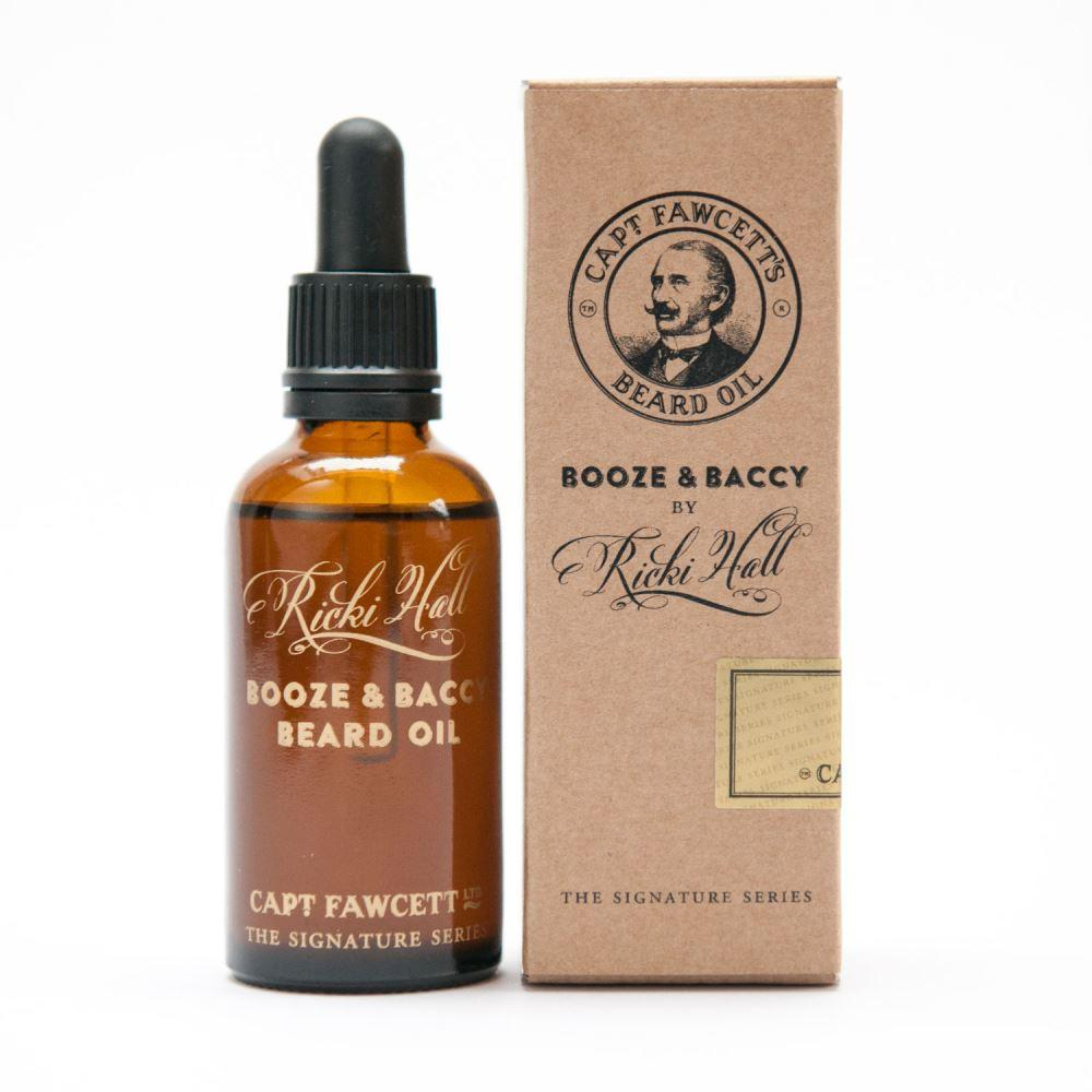 Captain Fawcett's Booze & Baccy Beard Oil 50ml - Ozbarber