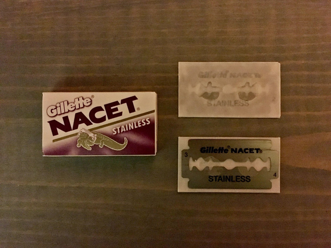 Gillette Nacet Stainless Double Edge Razor Blades (5)