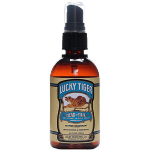 LUCKY TIGER HEAD TO TAIL DEODORANT & BODY SPRAY 100ML - Ozbarber