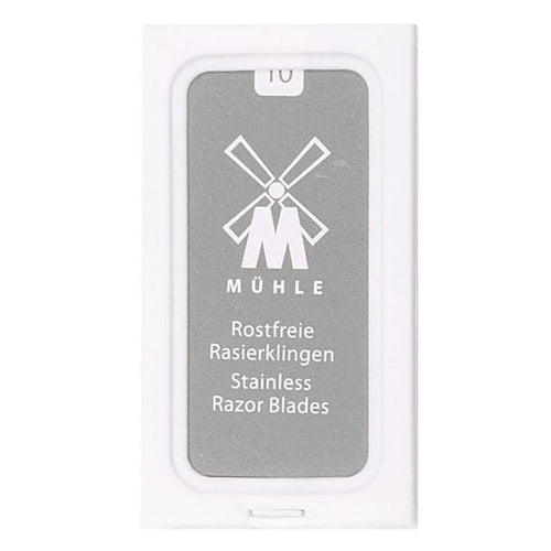 MUHLE STAINLESS STEEL DOUBLE EDGE BLADES (10) - Ozbarber
