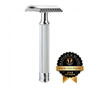 MUHLE TRADITIONAL R41 OPEN TOOTH COMB SAFETY RAZOR CHROME - Ozbarber