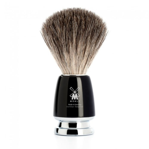 MUHLE RYTMO M226 PURE BADGER HAIR SHAVING BRUSH – BLACK - Ozbarber