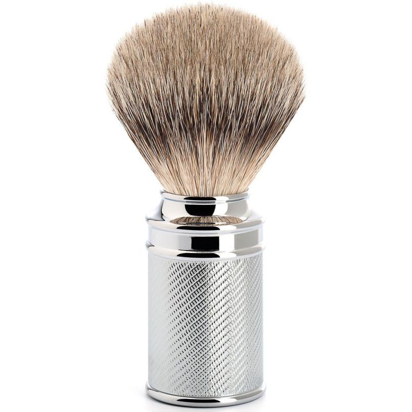 MUHLE SILVERTIP SHAVING BRUSH CHROME M89 - ozbarber