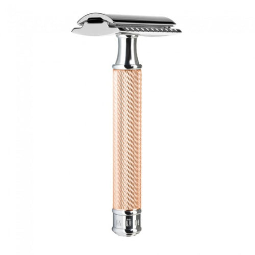 MUHLE TRADITIONAL R89 CLOSED COMB SAFETY RAZOR – ROSEGOLD - Ozbarber