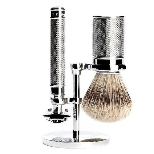 MUHLE R89 SAFETY RAZOR & SILVERTIP SHAVING SET - ozbarber