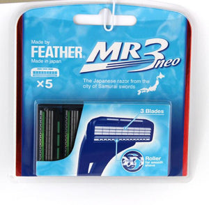FEATHER MR3 NEO CARTRIDGE RAZOR BLADES (PACK OF 5) - Ozbarber