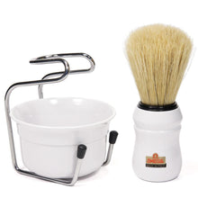 Load image into Gallery viewer, OMEGA PURE BRISTLE SHAVING BRUSH WITH BOWL AND STAND 49.18 - Ozbarber