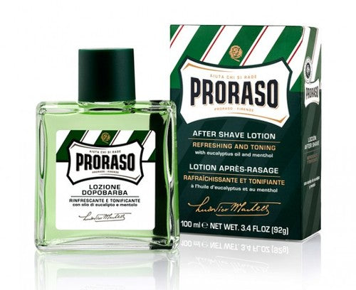 PRORASO EUCALYPTUS & MENTHOL REFRESH AFTERSHAVE LOTION 100ML - Ozbarber