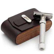 Load image into Gallery viewer, REX SUPPLY CO BLACK WALNUT SAFETY RAZOR TRAVEL CASE - Ozbarber