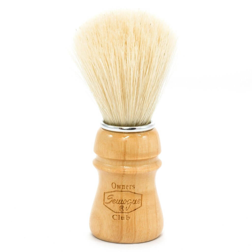 SEMOGUE OWNERS CLUB BOAR SHAVING BRUSH ASH WOOD - Ozbarber