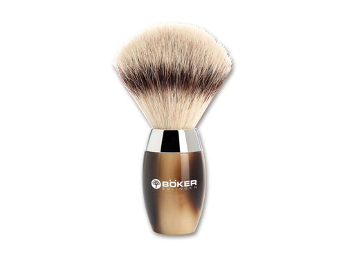 BOKER MODERN HORN SYNTHETIC SHAVING BRUSH - Ozbarber