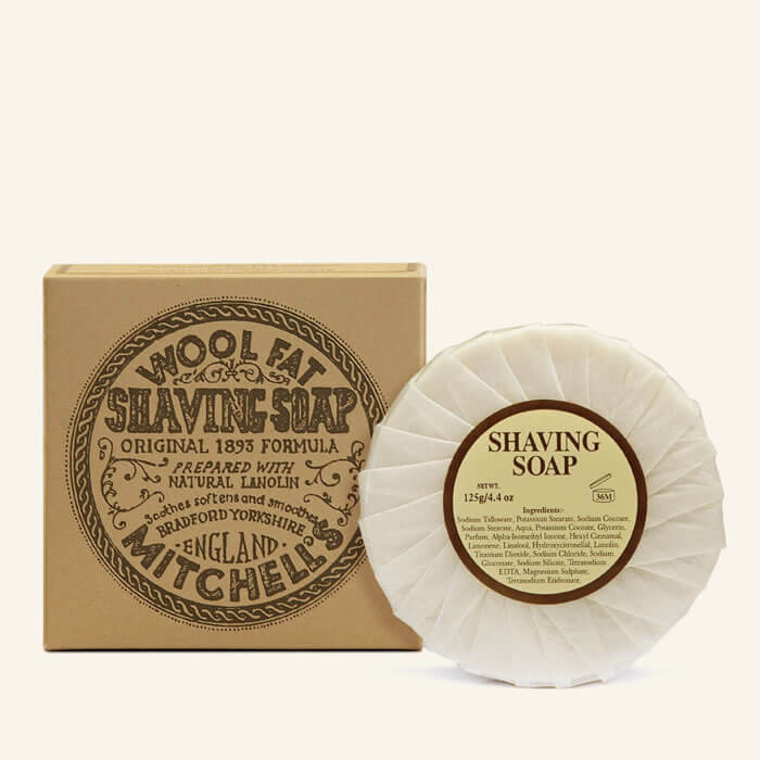 MITCHELL'S WOOL FAT SHAVING SOAP REFILL - Ozbarber