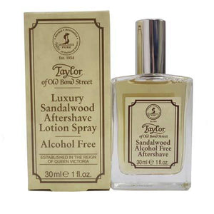 TAYLOR OF OLD BOND STREET SANDALWOOD ALCOHOL FREE AFTERSHAVE LOTION 30ML - Ozbarber