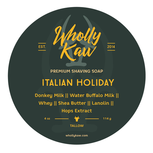 Wholly Kaw Italian Holiday Shaving Soap Tallow