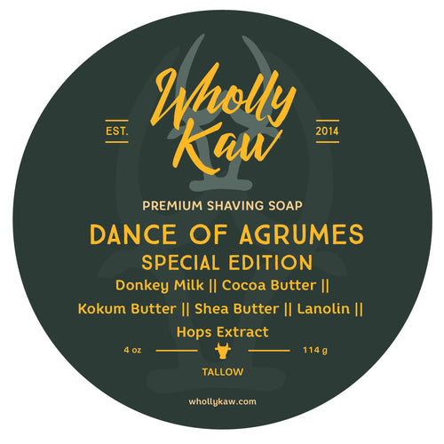 Wholly Kaw Dance of Agrumes Shaving Soap Tallow