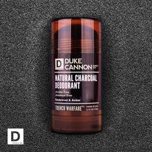 Load image into Gallery viewer, Duke Cannon Natural Charcoal Deodorant Sandalwood & Amber