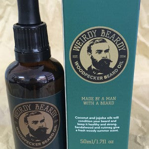 WEIRDY BEARDY WOODPECKER BEARD OIL 50ML - Ozbarber