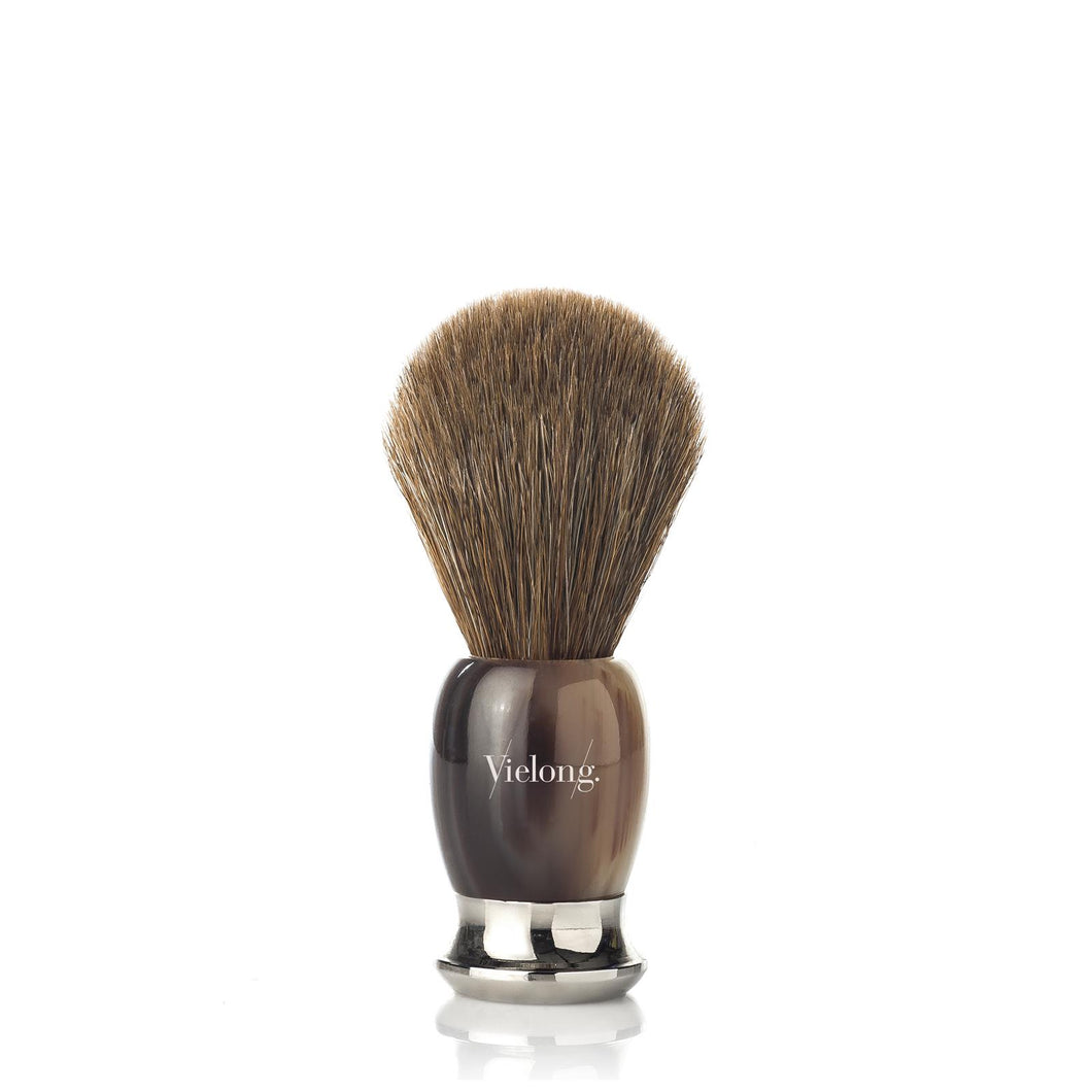 Vielong Patron Shaving Brush Brown Horsehair D21