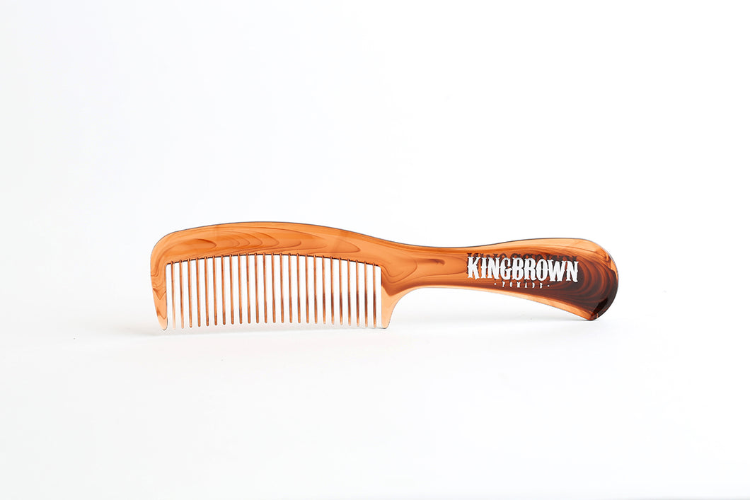 King Brown Tort Handle Comb - Ozbarber