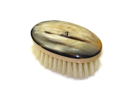 ABBEYHORN COW HORN BOAR BRISTLE FACE BRUSH - Ozbarber