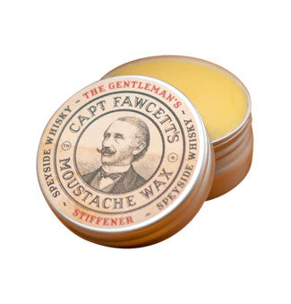 CAPTAIN FAWCETT'S GENTLEMAN'S STIFFENER MALT WHISKY MOUSTACHE WAX 15ML - ozbarber