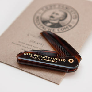 "CAPTAIN FAWCETT'S FOLDING MOUSTACHE COMB 4.6"" - Ozbarber"