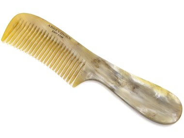 Abbeyhorn Cow Horn Single tooth comb with Handle - Ozbarber