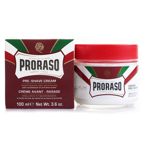PRORASO PRE & POST CREAM, SANDALWOOD & SHEA BUTTER 100ML - Ozbarber